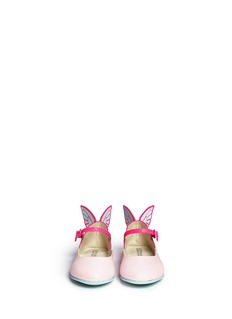 Sophia Webster 'Chiara Mini' butterfly appliqué glitter toddler Mary Jane flats