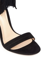 'Olivia' fringe cuff suede sandals