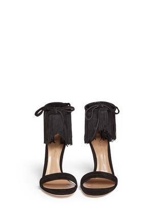 Gianvito Rossi-'Olivia' fringe cuff suede sandals