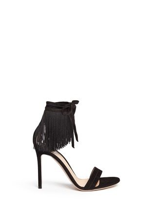 Main View - Click To Enlarge - Gianvito Rossi - 'Olivia' fringe cuff suede sandals