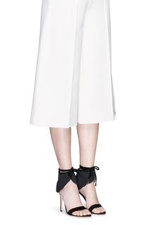 GIANVITO ROSSI'Olivia' fringe cuff suede sandals