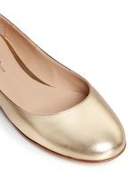 'Carla' ankle tie metallic leather ballerina flats