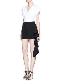 C/MEO COLLECTIVE 'The Real Me' ruffle trim shorts
