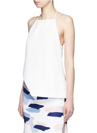 Front View - Click To Enlarge - C/Meo Collective  - 'Same Road' crépon halter top