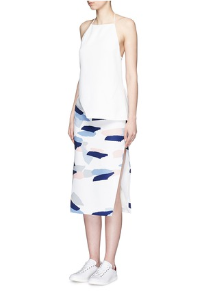 Figure View - Click To Enlarge - C/Meo Collective  - 'Same Road' crépon halter top