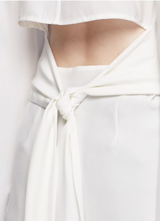 Detail View - Click To Enlarge - C/Meo Collective  - 'No Room' cutout back silk shirt dress