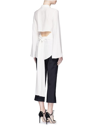 Back View - Click To Enlarge - C/Meo Collective  - 'No Room' cutout back silk shirt dress