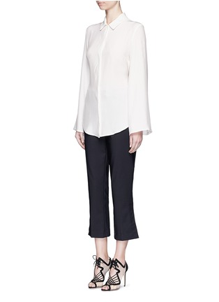 Front View - Click To Enlarge - C/Meo Collective  - 'No Room' cutout back silk shirt dress