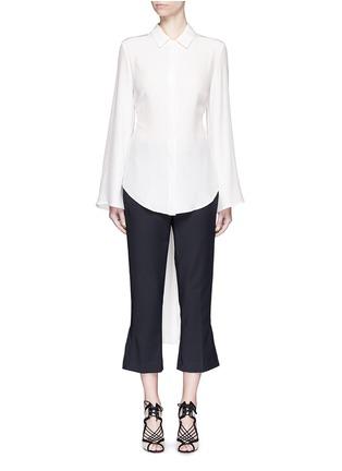 Main View - Click To Enlarge - C/Meo Collective  - 'No Room' cutout back silk shirt dress