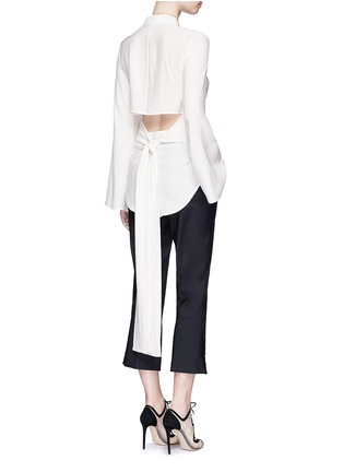 Figure View - Click To Enlarge - C/Meo Collective  - 'No Room' cutout back silk shirt dress