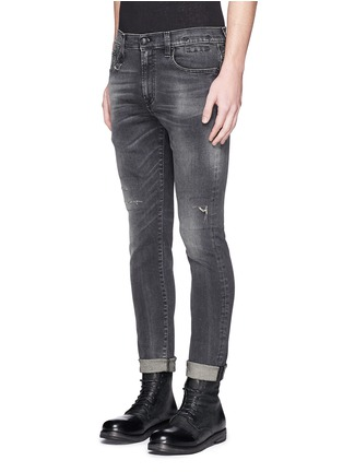 Front View - Click To Enlarge - R13 - 'Skate' distressed skinny jeans