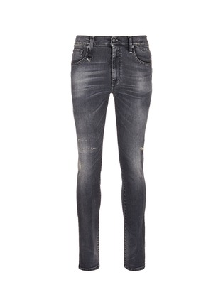 Main View - Click To Enlarge - R13 - 'Skate' distressed skinny jeans