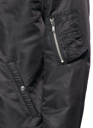 Detail View - Click To Enlarge - R13 - Double zip front bomber jacket