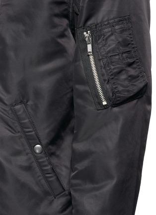 R13-Double zip front bomber jacket