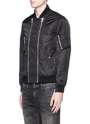 Front View - Click To Enlarge - R13 - Double zip front bomber jacket