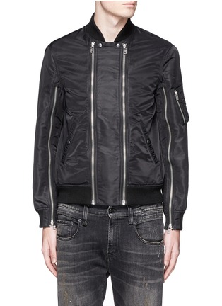Main View - Click To Enlarge - R13 - Double zip front bomber jacket