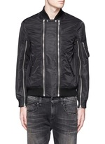 Double zip front bomber jacket