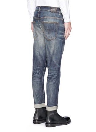 Back View - Click To Enlarge - R13 - 'Boy' distressed slim fit jeans