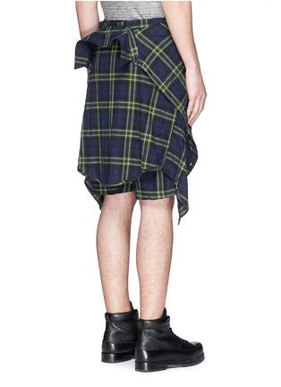 背面 - 点击放大 - R13 - CORNELL格纹衬衫短裤套装
