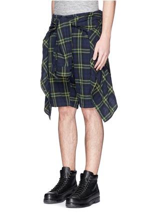 正面 -点击放大 - R13 - CORNELL格纹衬衫短裤套装