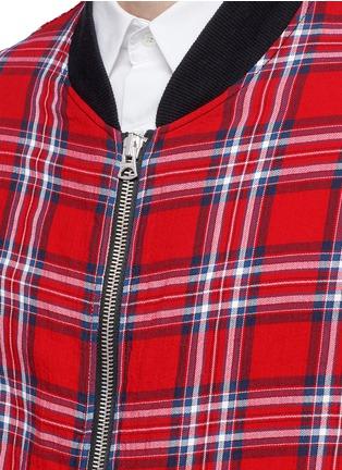 Detail View - Click To Enlarge - R13 - 'Flight' tartan plaid shirt jacket