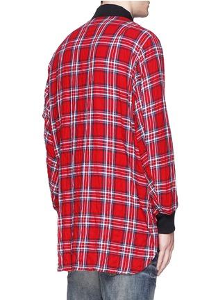 Back View - Click To Enlarge - R13 - 'Flight' tartan plaid shirt jacket