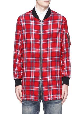 Main View - Click To Enlarge - R13 - 'Flight' tartan plaid shirt jacket