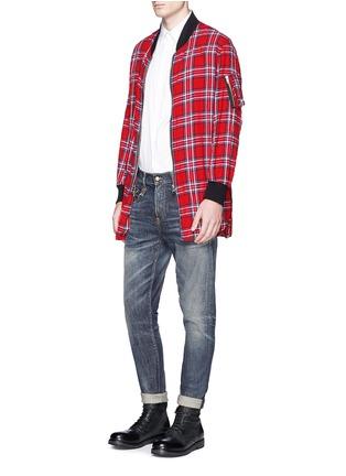 Figure View - Click To Enlarge - R13 - 'Flight' tartan plaid shirt jacket