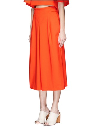 Front View - Click To Enlarge - Tibi - 'Agathe' inverted pleat culottes