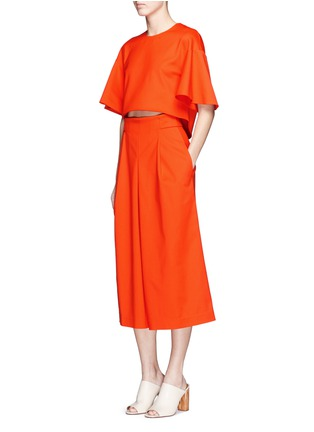 Figure View - Click To Enlarge - Tibi - 'Agathe' inverted pleat culottes