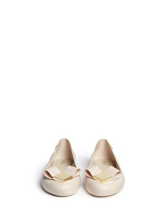 Figure View - Click To Enlarge - Melissa - 'Space Love' heart bow PVC flats