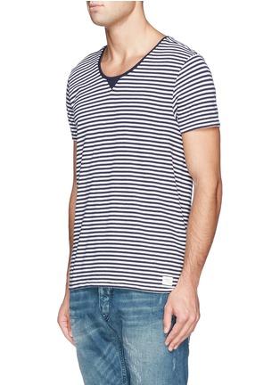 正面 -点击放大 - SCOTCH & SODA - 条纹纯棉T恤