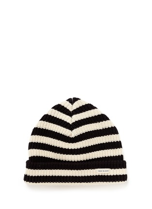 Main View - Click To Enlarge - Scotch & Soda - 'Bob Blauw' stripe cotton beanie