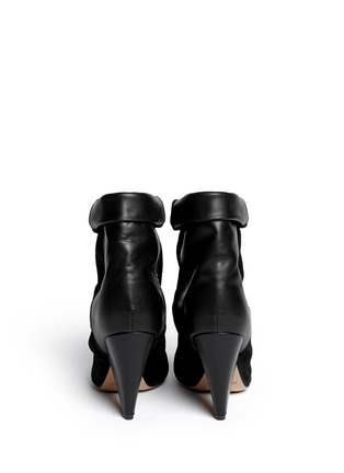 Back View - Click To Enlarge - Isabel Marant - 'Andrew' cone heel suede leather boots