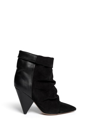 Main View - Click To Enlarge - Isabel Marant - 'Andrew' cone heel suede leather boots