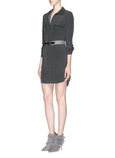 EQUIPMENT'Slim Signature' polka dot print shirt dress