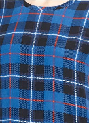 Detail View - Click To Enlarge - Equipment - 'Riley' Kurt plaid print silk T-shirt
