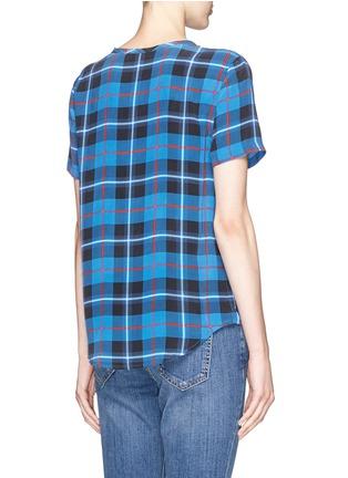 Back View - Click To Enlarge - Equipment - 'Riley' Kurt plaid print silk T-shirt