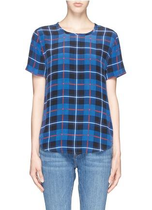 Main View - Click To Enlarge - Equipment - 'Riley' Kurt plaid print silk T-shirt