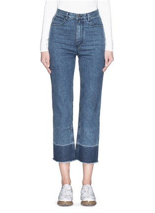 Detail View - Click To Enlarge - Rachel Comey - 'Legion' raw edge cuff slim leg jeans