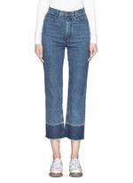 'Legion' raw edge cuff slim leg jeans