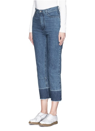 Front View - Click To Enlarge - Rachel Comey - 'Legion' raw edge cuff slim leg jeans