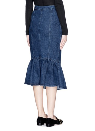 Back View - Click To Enlarge - Rachel Comey - 'Range' flare fishtail hem denim skirt
