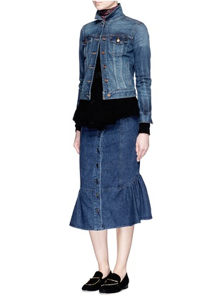 Figure View - Click To Enlarge - Rachel Comey - 'Range' flare fishtail hem denim skirt