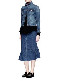 Rachel Comey'Range' flare fishtail hem denim skirt