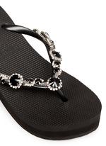 'Marilyn' crystal wedge flip flops