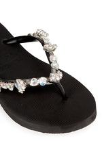 'Jenny' crystal wedge flip flops