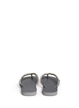 Back View - Click To Enlarge - Uzurii - 'Classic' crystal flip flops