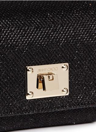 细节 - 点击放大 - JIMMY CHOO - 'Ruby' mini lamé glitter chain bag