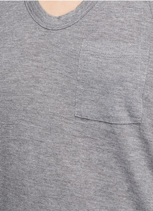 Detail View - Click To Enlarge - T By Alexander Wang - Classic scoop neck pocket tank top